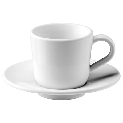 IKEA 365+ Tassa i plat de cafè exprés, blanc, 6 cl