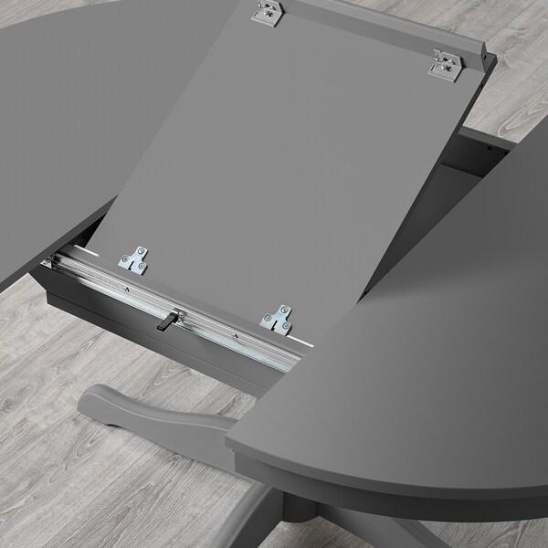 INGATORP Taula extensible, gris, 110/155 cm