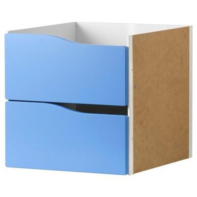 KALLAX Accessori amb 2 calaixos, blau, 33x33 cm