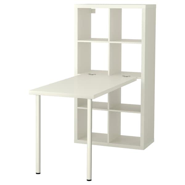 KALLAX Combinació d'escriptori, blanc, 77x147x159 cm