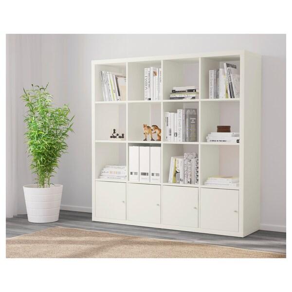 KALLAX Prest+4accss, blanc, 147x147 cm