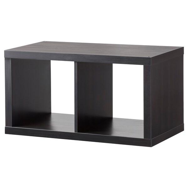 KALLAX Prestatgeria, negre-marró, 77x42 cm