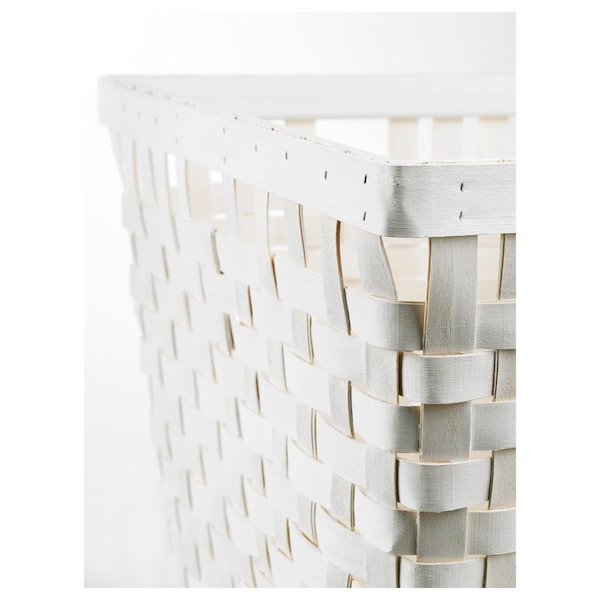 KNARRA Cistell, blanc, 38x29x30 cm