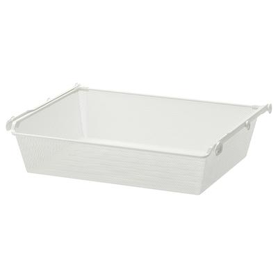 KOMPLEMENT Cistell reixeta+guia extraïble, blanc, 75x58 cm