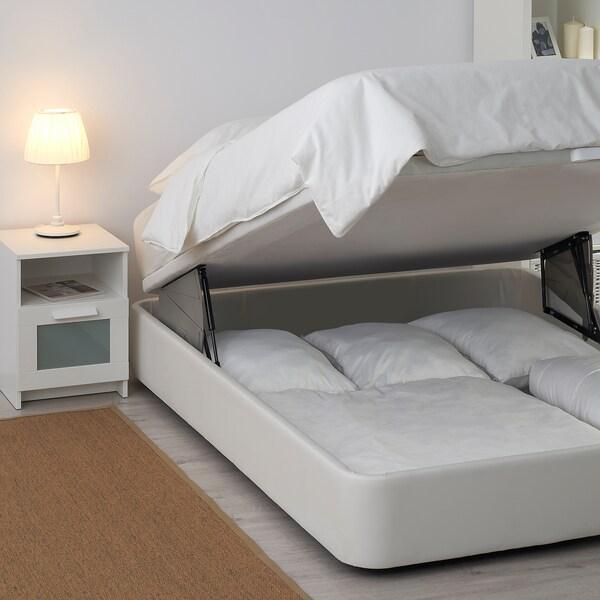 KVITSÖY Divan entapissat, Bomstad blanc, 135x190 cm