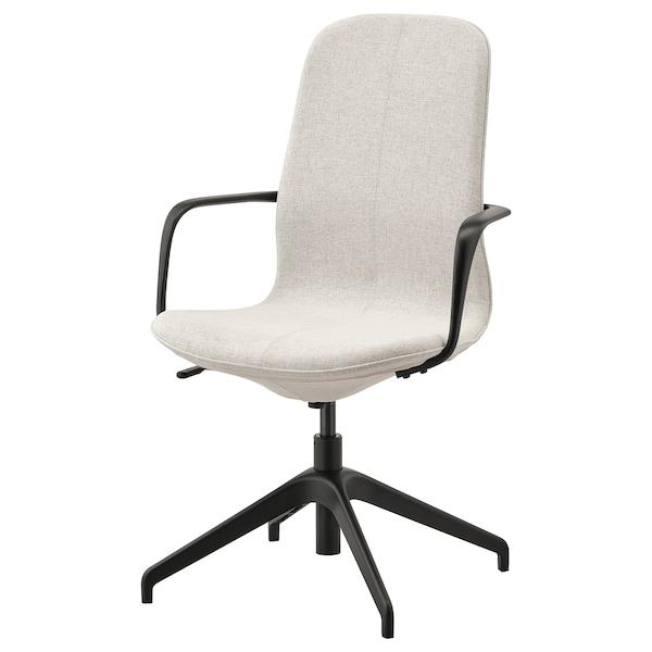 LÅNGFJÄLL Cadira amb braços, Gunnared beix/Negre
