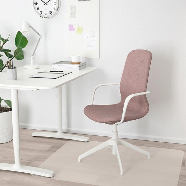 LÅNGFJÄLL Cadira amb braços, Gunnared marró-rosa clar/blanc