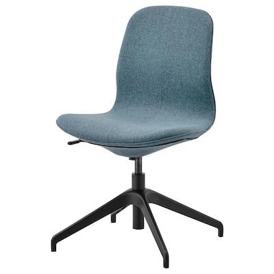 LÅNGFJÄLL Cadira reunions, Gunnared blau/Negre