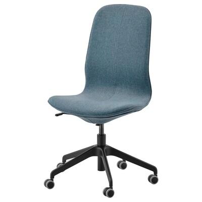 LÅNGFJÄLL Cadira de treball, Gunnared blau/Negre