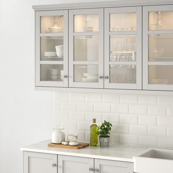 LERHYTTAN Porta de vidre, gris clar, 30x60 cm
