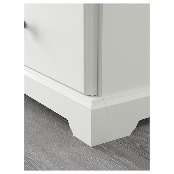LIATORP Banc de TV, blanc, 145x49x45 cm
