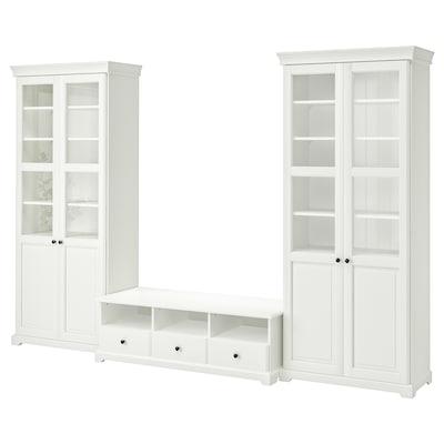 LIATORP Combinació de moble de TV, blanc, 331x214 cm