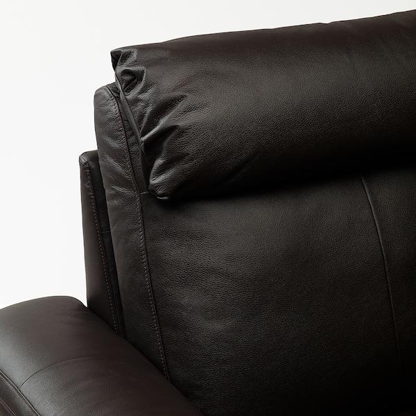 LIDHULT Sofà de 3 places, amb chaise longue/Grann/Bomstad marró fosc