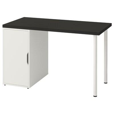 LINNMON / ALEX Taula, negre-marró/blanc, 120x60 cm