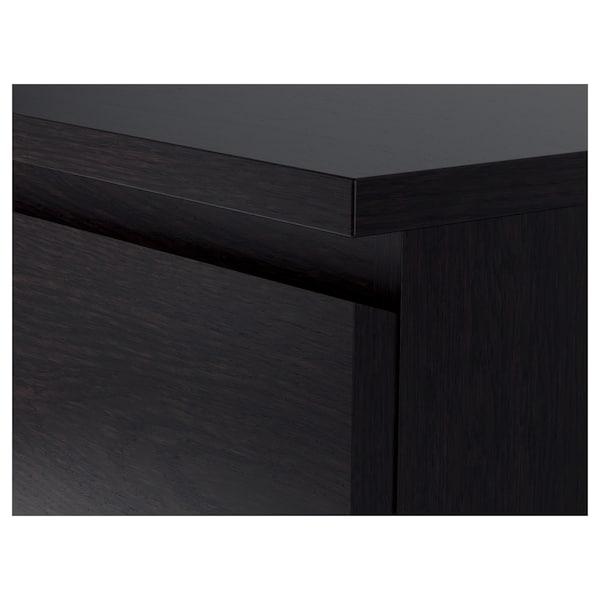 MALM Calaixera de 6 calaixos, negre-marró, 160x78 cm