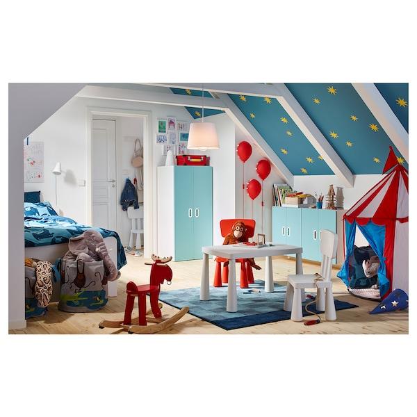 MAMMUT Taula per nens, interior/exterior blanc, 77x55 cm