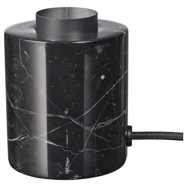 MARKFROST Llum de taula, marbre Negre