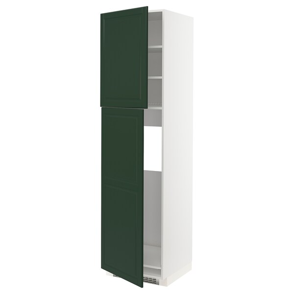 METOD Aa frigo 2p, blanc/Bodbyn verd fosc, 60x60x220 cm