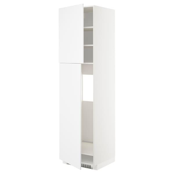 METOD Aa frigo 2p, blanc/Kungsbacka blanc mat, 60x60x220 cm