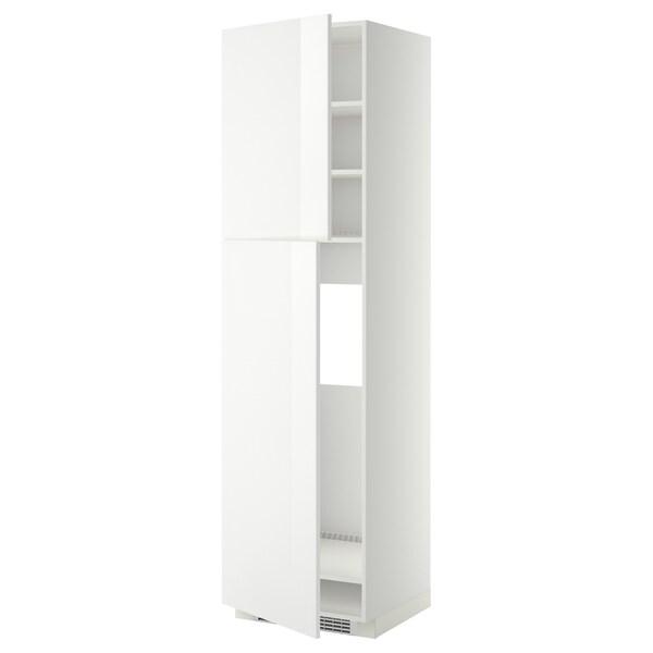 METOD Aa frigo 2p, blanc/Ringhult blanc, 60x60x220 cm