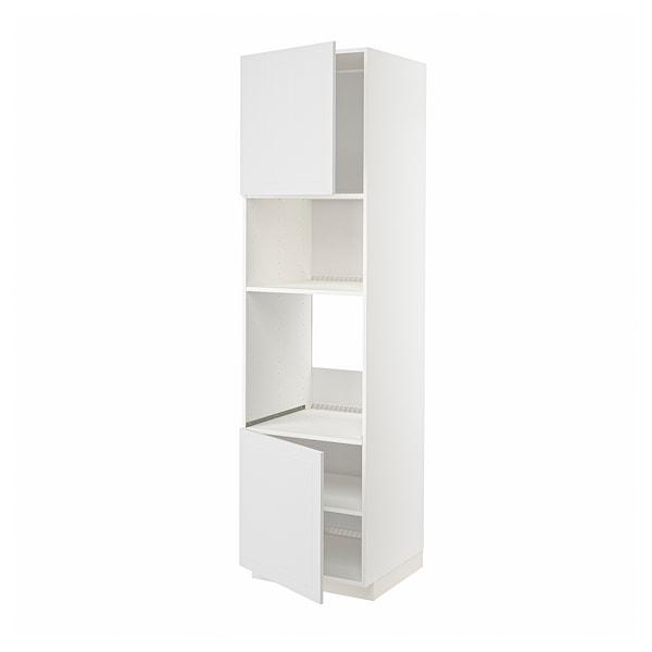 METOD Aa frn/mic 2po/llx, blanc/Stensund blanc, 60x60x220 cm