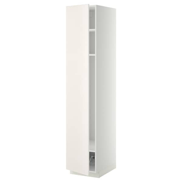 METOD Aa llex/cr, blanc/Veddinge blanc, 40x60x200 cm
