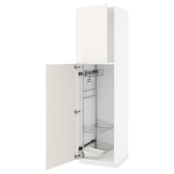 METOD Aa neteja, blanc/Veddinge blanc, 60x60x220 cm