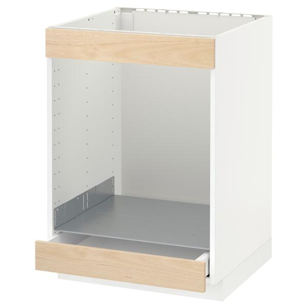 METOD Ab plca/forn cjn, blanc/Askersund efecte freixe clar, 60x60 cm