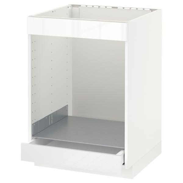METOD Ab plca/forn cjn, blanc/Ringhult blanc, 60x60 cm