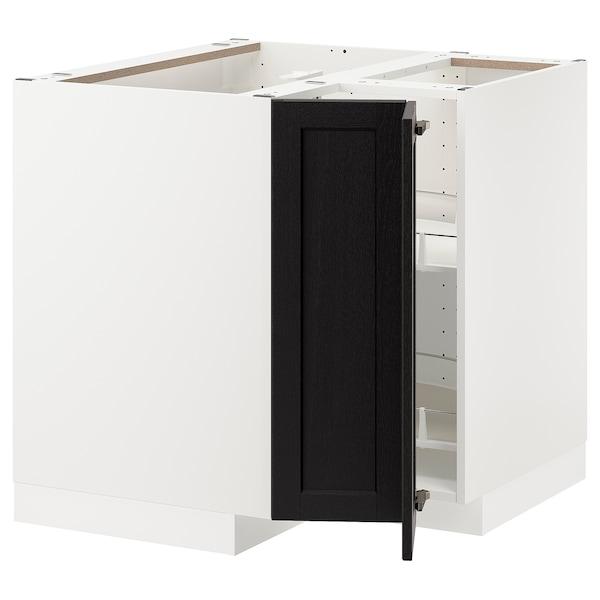 METOD Ab rac cist gir, blanc/Lerhyttan tint negre, 88x88 cm