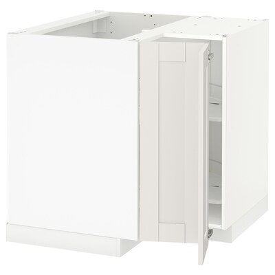METOD Ab rac cist gir, blanc/Sävedal blanc, 88x88 cm