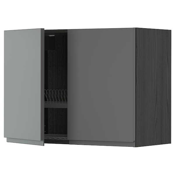 METOD Ap esc/2p, Negre/Voxtorp gris fosc, 80x60 cm