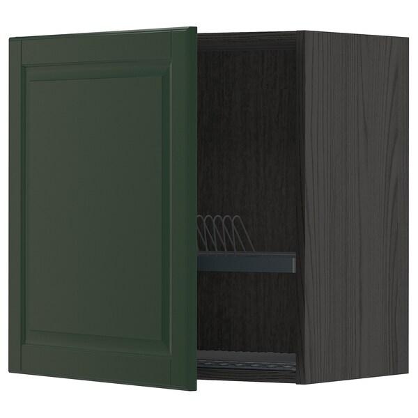 METOD Ap escplats, Negre/Bodbyn verd fosc, 60x60 cm