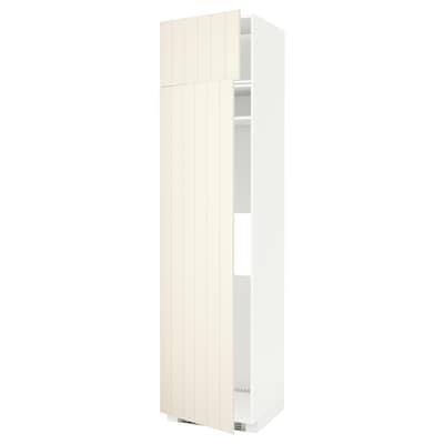 METOD Arm alt frigo/cong+2 clx, blanc/Hittarp os, 60x60x240 cm