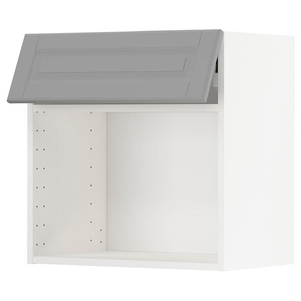 METOD Armari alt micro, blanc/Bodbyn gris, 60x60 cm