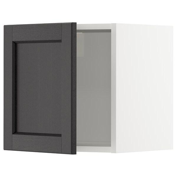 METOD Armari de paret, blanc/Lerhyttan tint negre, 40x40 cm