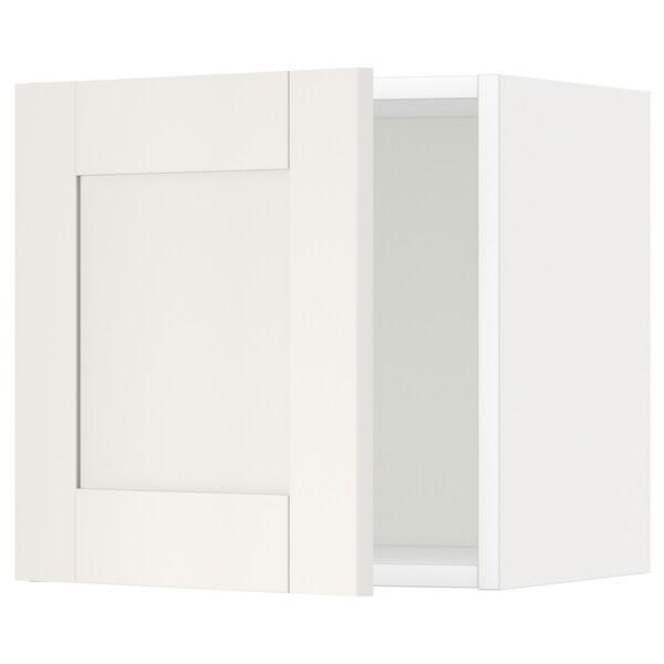 METOD Armari de paret, blanc/Sävedal blanc, 40x40 cm