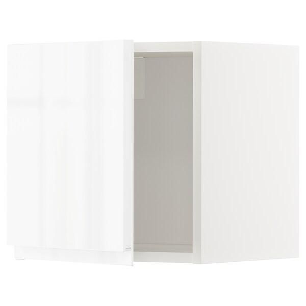 METOD Armari de paret, blanc/Voxtorp alta lluentor/blanc, 40x40 cm