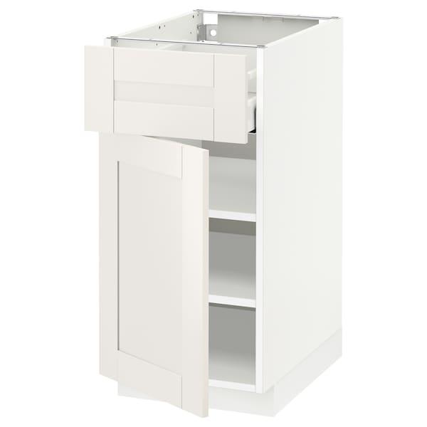 METOD / MAXIMERA Ab 1p/1c, blanc/Sävedal blanc, 40x60 cm