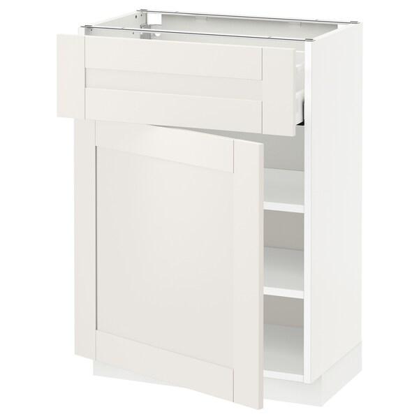 METOD / MAXIMERA Ab 1p/1c, blanc/Sävedal blanc, 60x37 cm