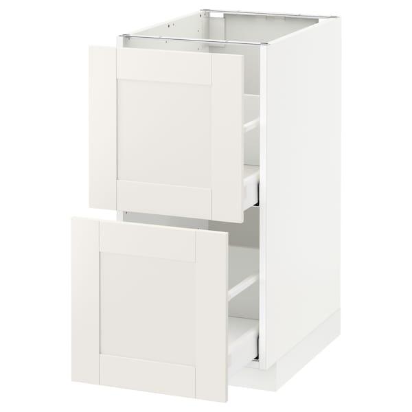 METOD / MAXIMERA Ab 2f/2c, blanc/Sävedal blanc, 40x60 cm