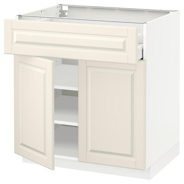 METOD / MAXIMERA Ab 2p/1c, blanc/Bodbyn os, 80x60 cm