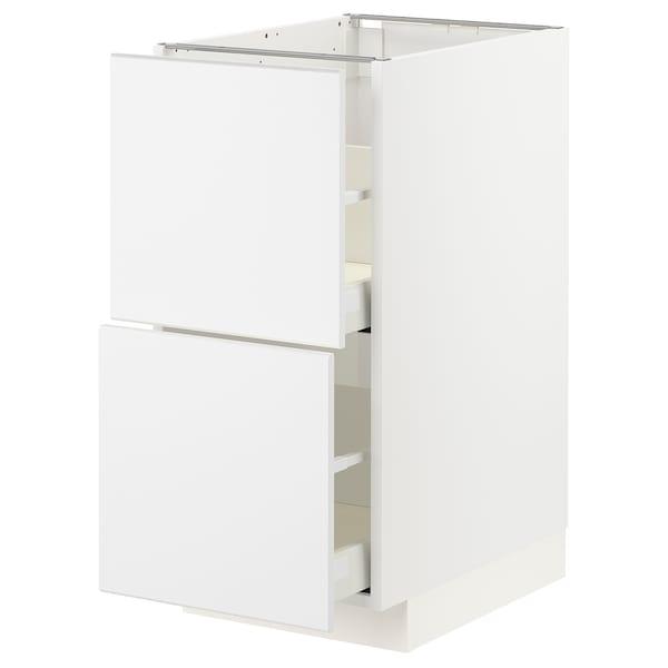 METOD / MAXIMERA Ab, blanc/Kungsbacka blanc mat, 40x60 cm