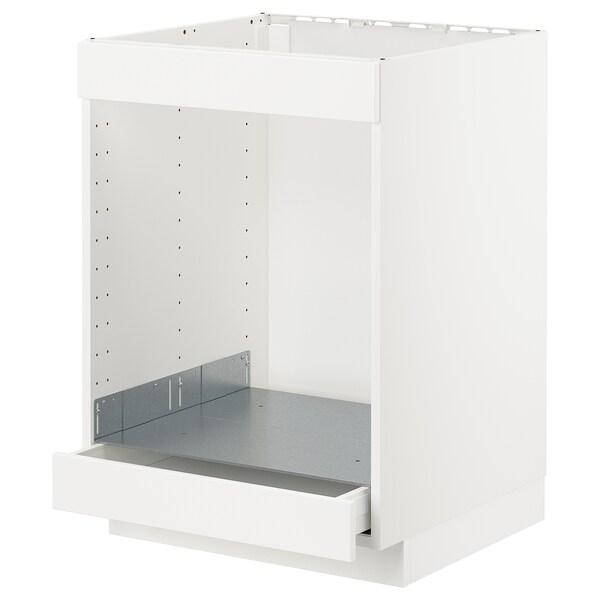 METOD / MAXIMERA Ab plca/forn cjn, blanc/Kungsbacka blanc mat, 60x60 cm
