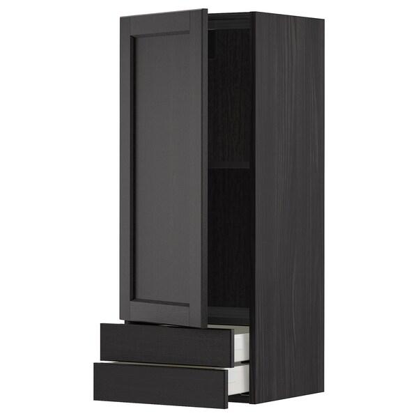 METOD / MAXIMERA Ap 1p/2c, Negre/Lerhyttan tint negre, 40x100 cm