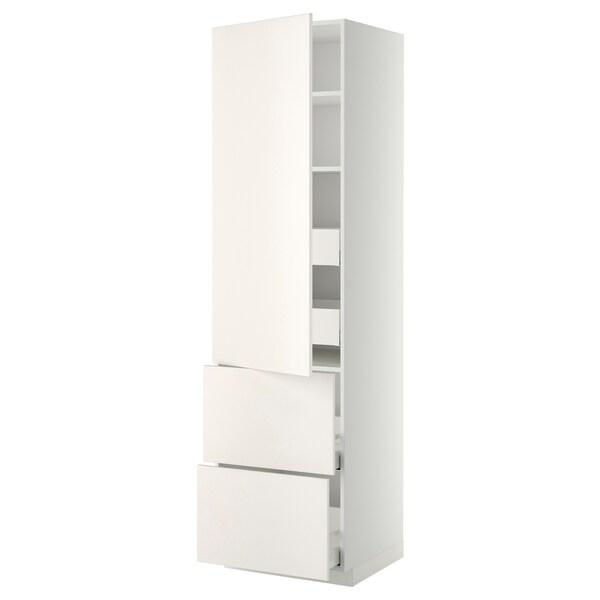 METOD / MAXIMERA Arm alt llx/4 clx/pt/2 frnt, blanc/Veddinge blanc, 60x60x220 cm