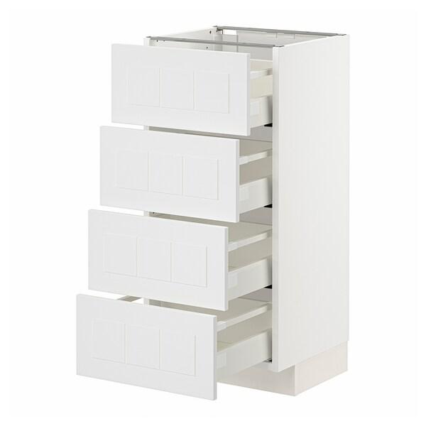 METOD / MAXIMERA Armari baix 4 calaixos/4 fronts, blanc/Stensund blanc, 40x37 cm