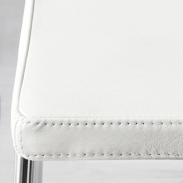 MÖRBYLÅNGA / BERNHARD Taula i 4 cadires, marró/Mjuk blanc, 140x85 cm