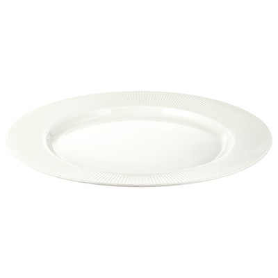 OFANTLIGT Plat, blanc, 28 cm