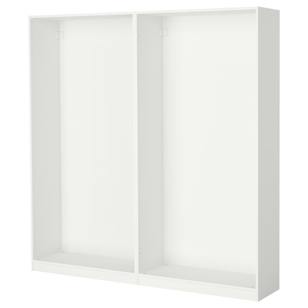 PAX 2 estructures d'armari, blanc, 200x35x201 cm